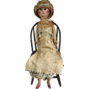 All Original Georgian Wooden Doll - Queen Anne circa 1780s