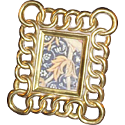 Tiny Victorian Brass Frame - Ideal for Dollhouse