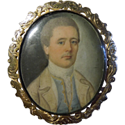 Antique  Georgian Miniature Portrait circa 1780