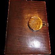 Vintage Brown Leather Minaudiere