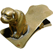 Victorian Brass Bulldog Pug Desk Clip - Red Tag Sale Item