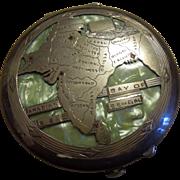 India Raj Silver Compact Souvenir circa 1940s