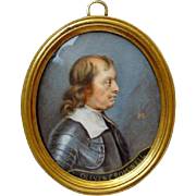 Miniature Portrait of Oliver Cromwell after Samuel Cooper