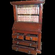 Victorian Miniature Mahogany Secretary - Apprentice Piece or Dollhouse