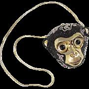 Vintage Judith Leiber Monkey Clutch Minaudieré