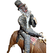 Antique Black Americana Itinerant Preacher on Horse