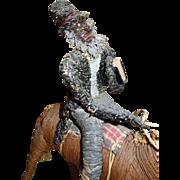 Antique Black Americana Itinerant Preacher on Horse