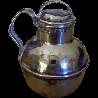 Antique Sterling Silver Pepper Shaker Figural Guernsey Milk Jug