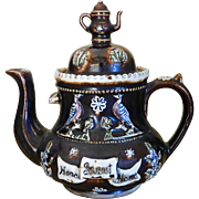 Antique Bargeware Teapot - Measham Pottery