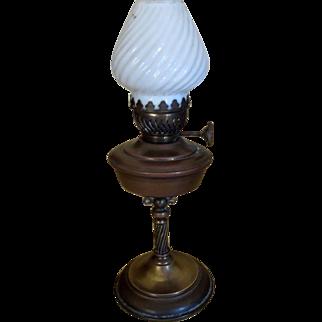 Antique Victorian Miniature Nautical Luna Gimbal Lamp - Brass and Copper