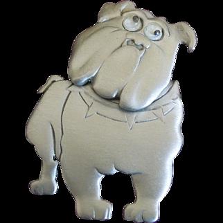 Bulldog Brooch by JJ Jonelle - Pewter