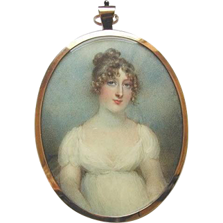 Miniature Portrait of Lady Cecilia Foley by Famed Artist Anne Mee circa 1806
