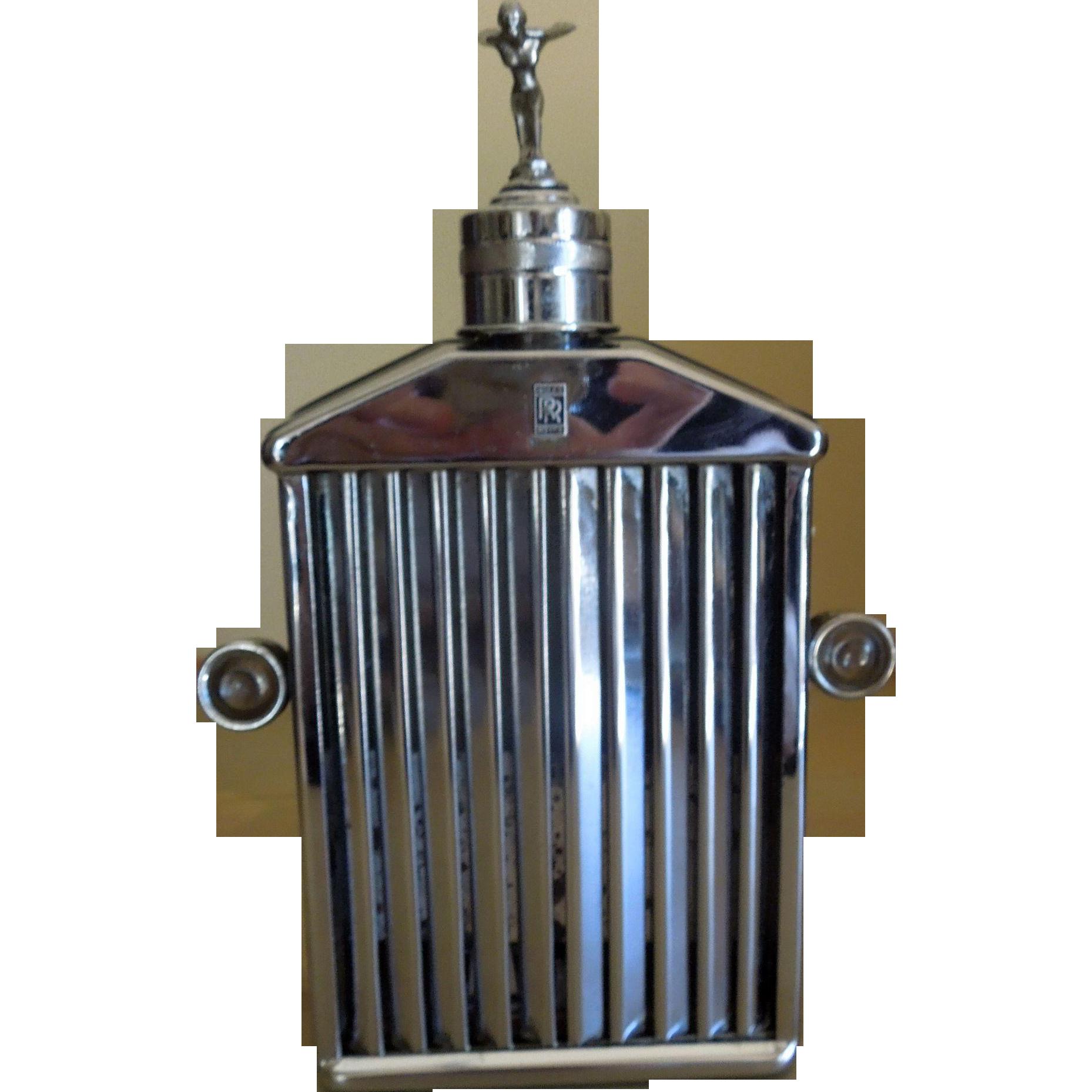 Vintage Rolls Royce Drinks Decanter Music Box