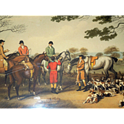 Antique Hunting Georgian Aquatint Engravings 'La Chasse au Lievre' - Samuel Howitt 1807