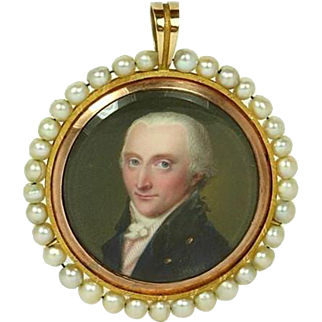 Georgian Portrait Miniature of Lord Charles Townshend circa 1796
