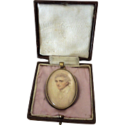 Georgian Portrait Miniature Pendant - Preparatory Sketch by John Smart ca 1790