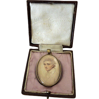 Georgian Portrait Miniature Pendant - Preparatory Sketch by John Smart ca 1790