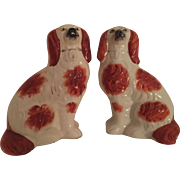Victorian Pair of Red Staffordshire Spaniels