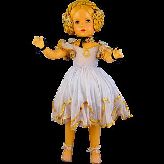 Vintage 1940's Madame Alexander Composition Karen Ballerina Doll Rare 18 Inch.