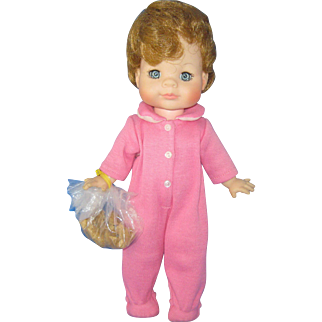 Madame Alexander Vintage 12 inch Michael with Bear doll from the Peter Pan series.