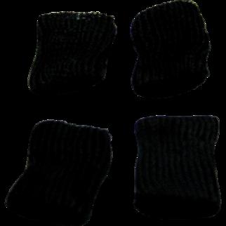 Black doll socks for 8 inch doll.