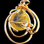A unique handcrafted pendant with semi precious stone.