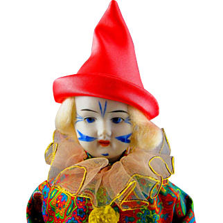 Vintage German Clown doll.