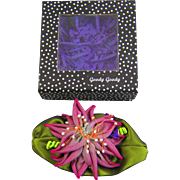 Purple Dahlia cloth pin.