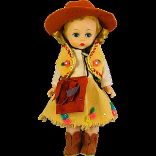 Vintage Alexander-Kin Cowgirl doll.