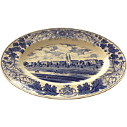 Bowdoin College Platter, Wedgwood, blue and white