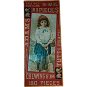 19th Century Adams' Assorted Tutti Frutti Chewing Gum Advertising Box