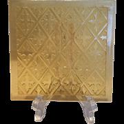 Addison Glass Pane - Amber Diamond Pattern