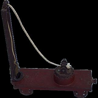 Vintage Cast Iron Toy Railroad Train Pile Driver