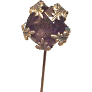 Great Amethyst Glass Trembler Hat Pin
