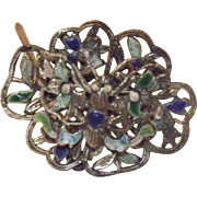 Beautiful Cloisonne Butterfly Hat Pin
