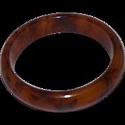 Vintage Marbled Rootbeer Bakelite Bangle Bracelet
