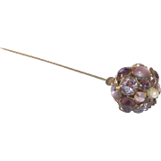 Lovely Amethyst rhinestones Hat Pin
