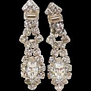 Sparkling Rhinestone Drop Screw Back Earrings