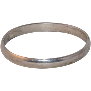 Wonderful Solid Sterling Silver Hinged Bangle Bracelet