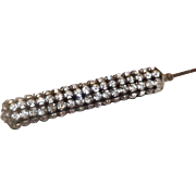 "Sparkling Rhinestone 14 1/4"" Long Hat Pin"