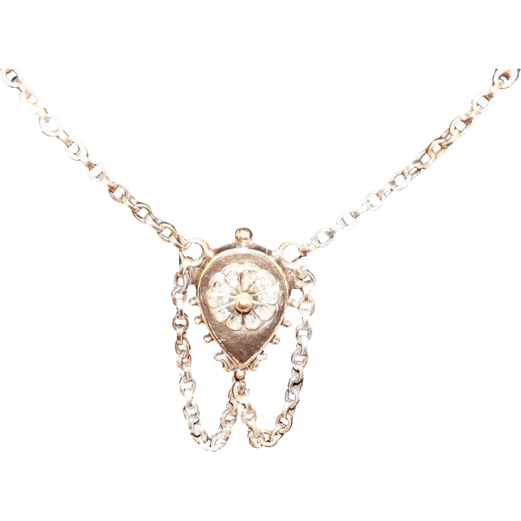 Beautiful victorian gold filled necklace from that vintage for Gold filled jewelry