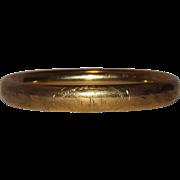 Pretty Van Dell Gold Filled Monogram Bracelet
