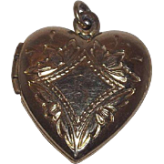 Sweet Gold Filled Heart Locket 12 kt gold Filled