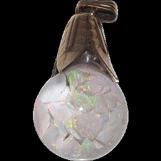 Large Gold Filled Floating Opal Drop Pendant