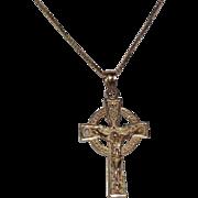 14 Kt Yellow Gold Crucifix & 14 Kt Yellow Gold Chain
