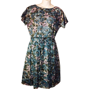 Pretty Vintage 1950's Cohen Bros. Style Flower Print Party Dress