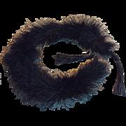 Antique edwardian  lack ostrich feather boa