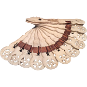 Charming carved fan for larger fashion doll