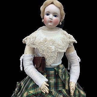 Charming chestnut colour purse for fashion doll