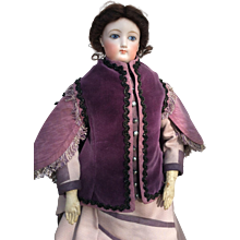 Elegant two tone mantle for larger Fashion Doll